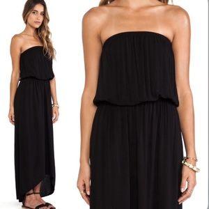NWOT Velvet by Graham & Spencer Black Tube Dress M